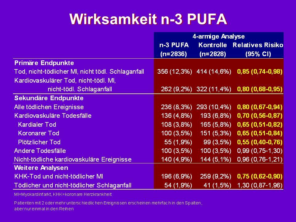 Wirksamkeit n-3 PUFA
