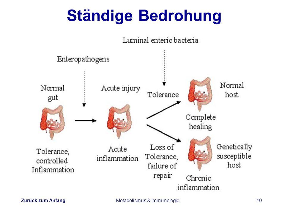 Zurück zum Anfang Metabolismus & Immunologie40 Ständige Bedrohung