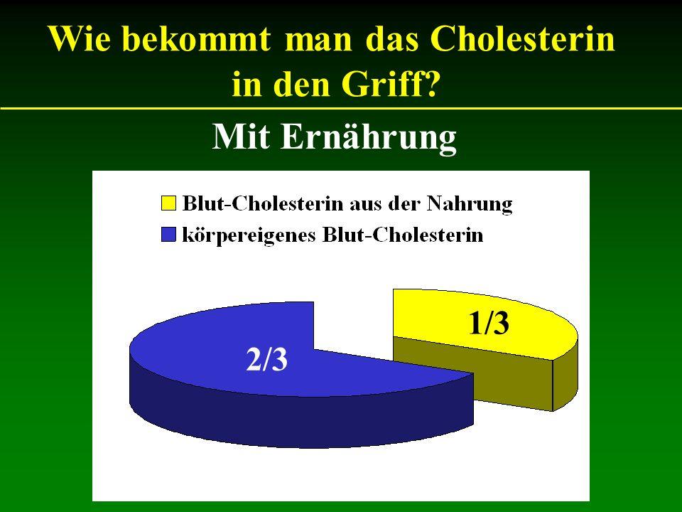 Mit Ernährung Wie bekommt man das Cholesterin in den Griff? 1/3 2/3