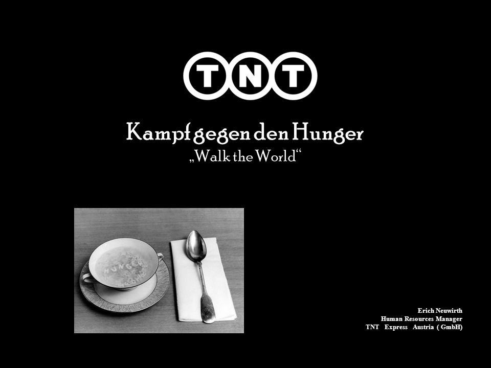 TNT unterstützt seit 2002 das World Food Programme der Vereinten Nationen.......