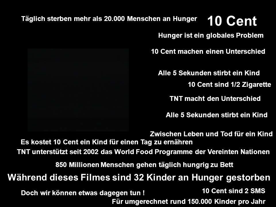 TNT unterstützt seit 2002 das World Food Programme der Vereinten Nationen....... 850 Millionen Menschen gehen täglich hungrig zu Bett.... Täglich ster
