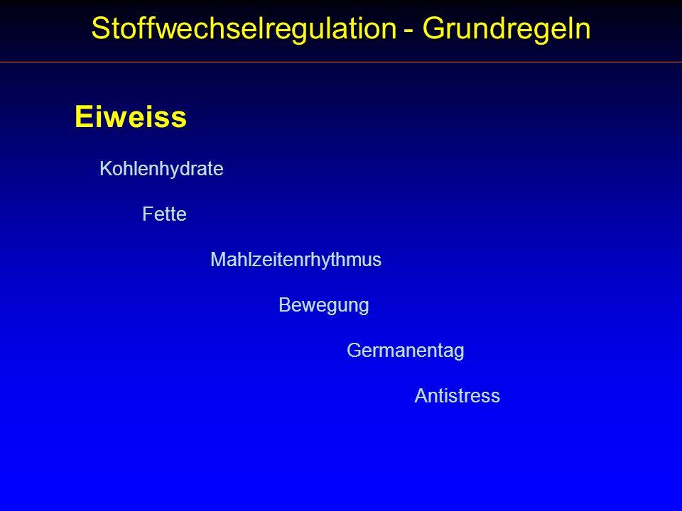 Stoffwechselregulation - Antistress Aber: Gefragt ist Genuss mit Bedacht.