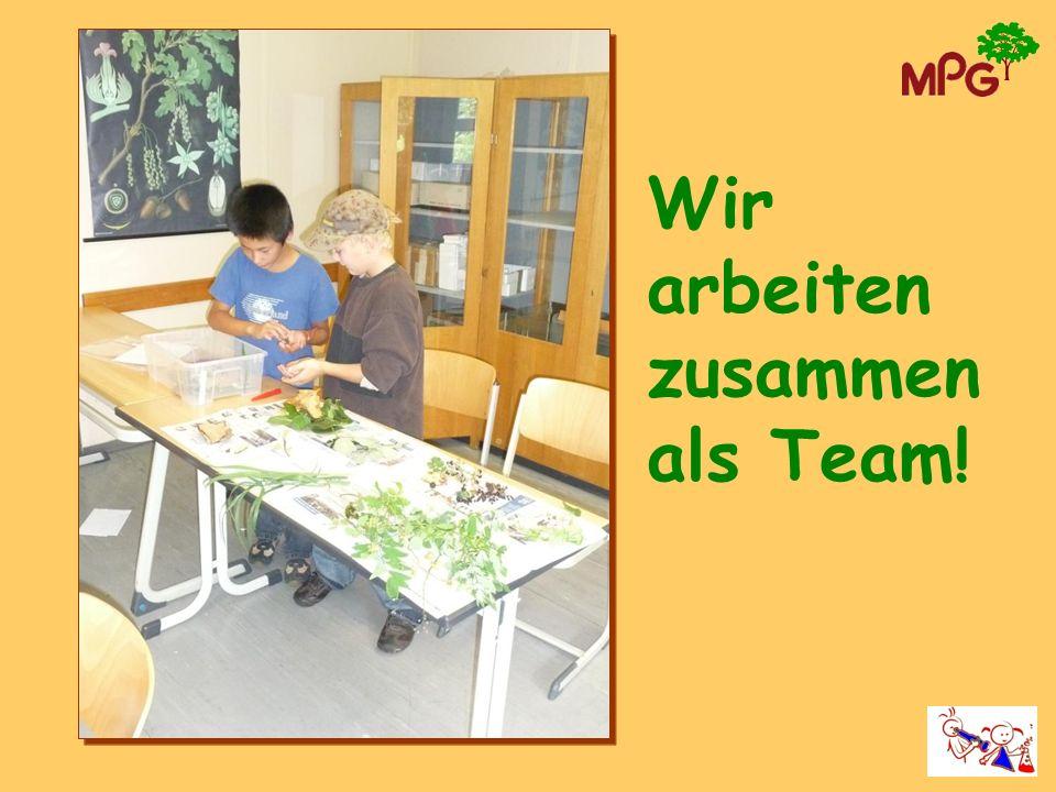 Wir arbeiten zusammen als Team!
