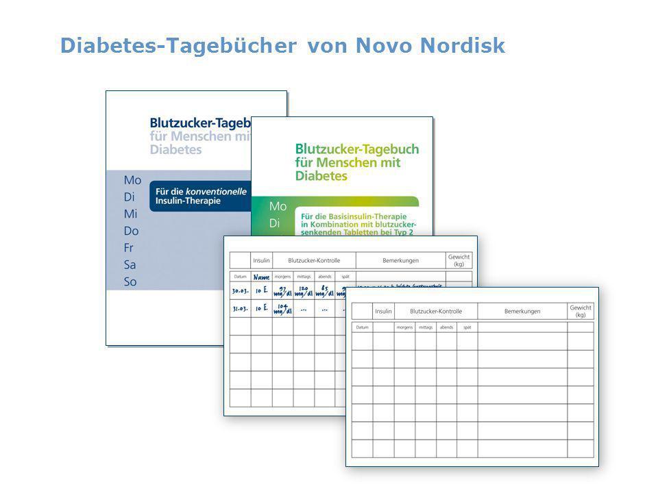 Diabetes-Tagebücher von Novo Nordisk