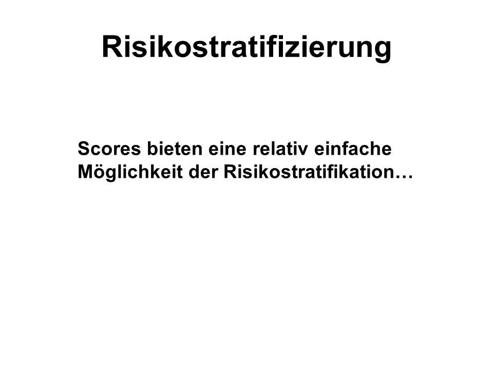Risikostratifizierung Scores bieten eine relativ einfache Möglichkeit der Risikostratifikation…
