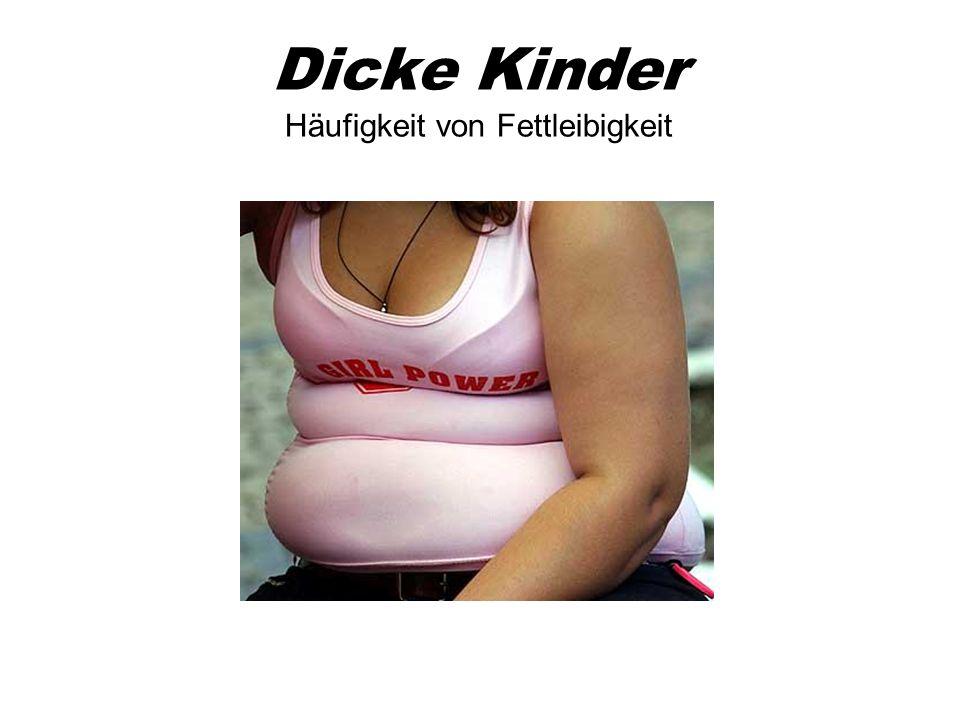 Dicke Kinder Häufigkeit von Fettleibigkeit