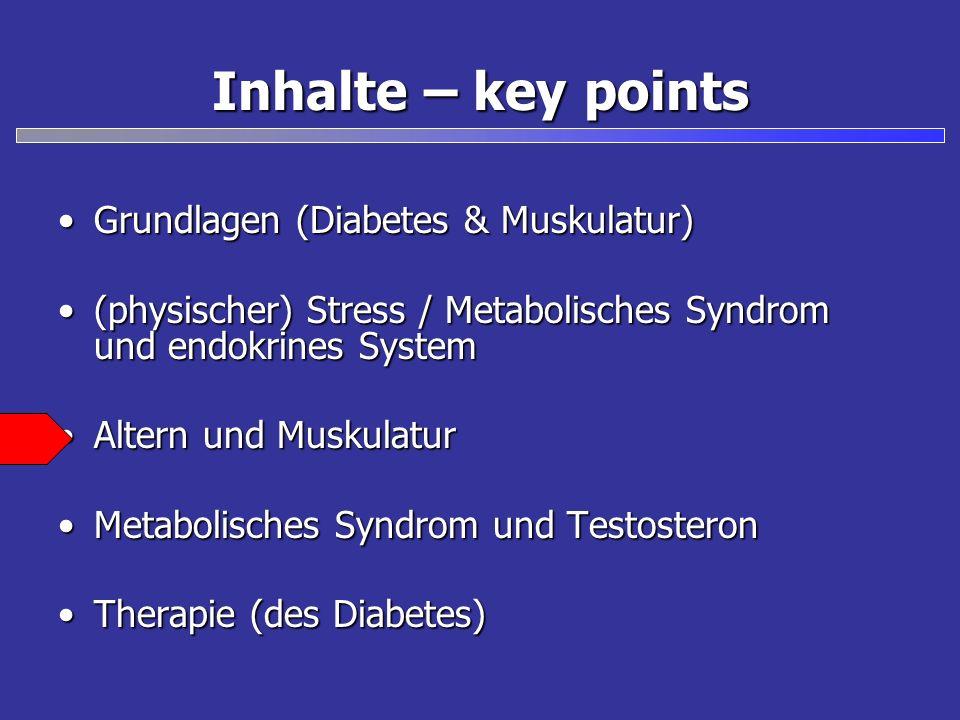 Inhalte – key points Grundlagen (Diabetes & Muskulatur)Grundlagen (Diabetes & Muskulatur) (physischer) Stress / Metabolisches Syndrom und endokrines S