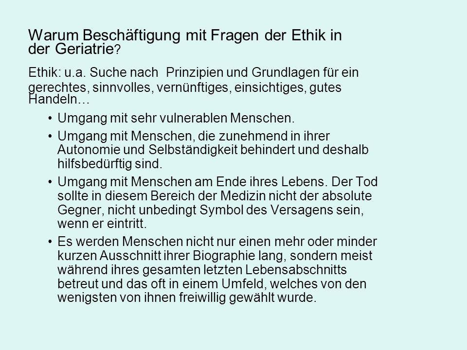 Ethische Entscheidungen am Lebensende Kasuistik Forts.