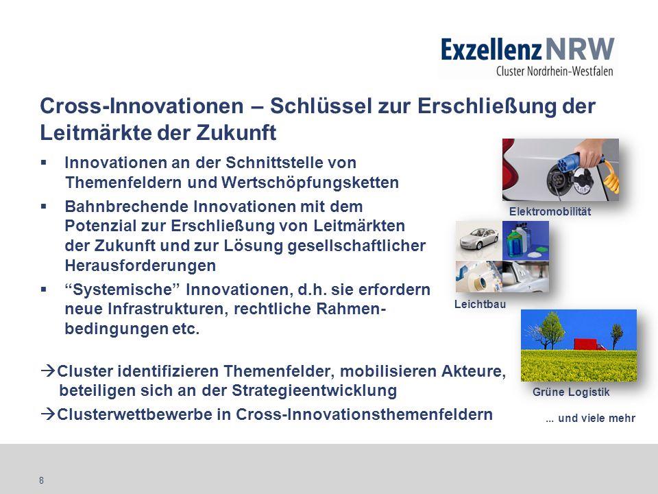 8 Cross-Innovationen – Schlüssel zur Erschließung der Leitmärkte der Zukunft Innovationen an der Schnittstelle von Themenfeldern und Wertschöpfungsket