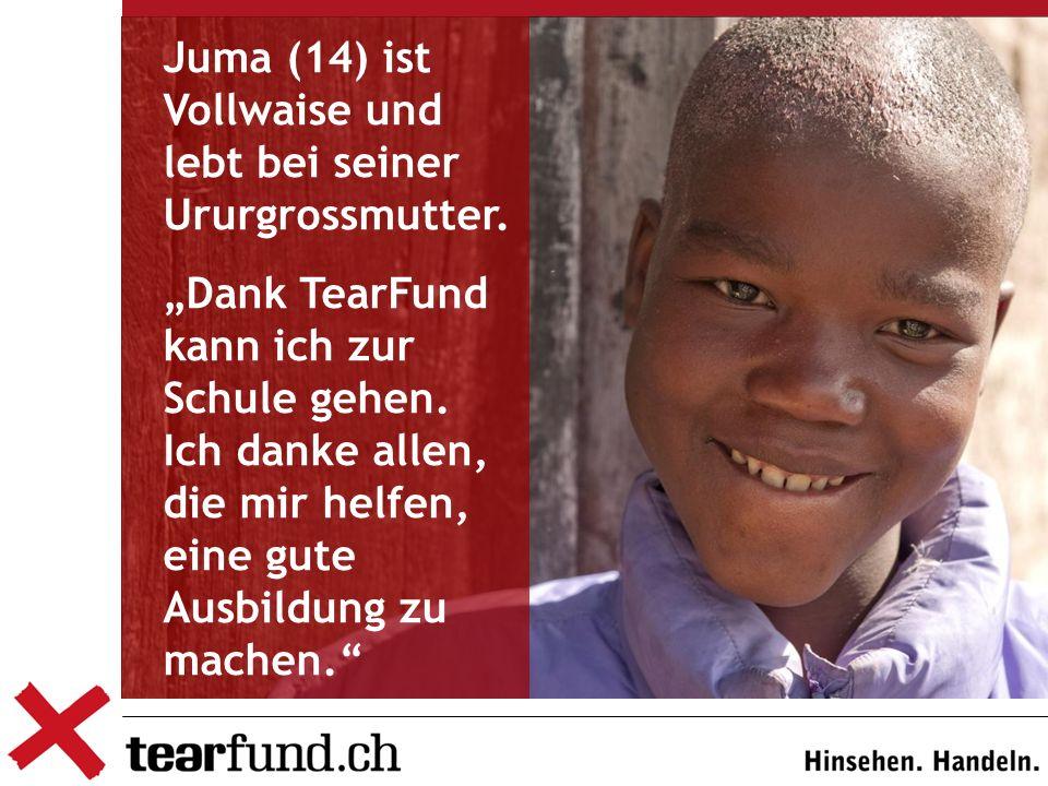 Juma (14) ist Vollwaise und lebt bei seiner Ururgrossmutter.