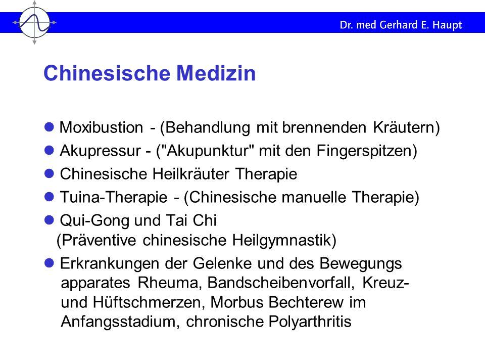 Moxibustion - (Behandlung mit brennenden Kräutern) Akupressur - (