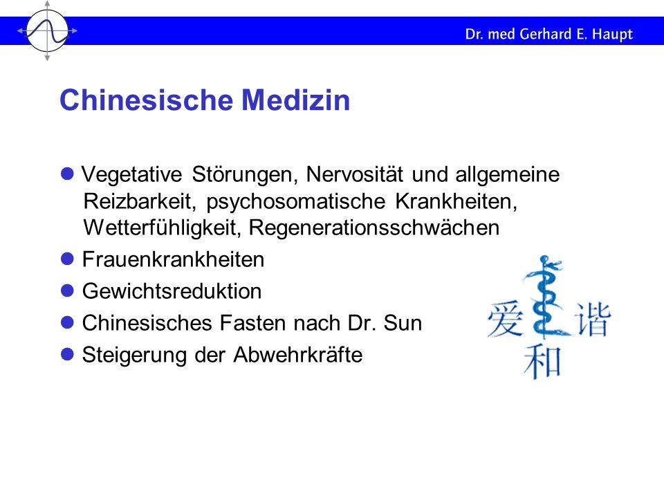 Vegetative Störungen, Nervosität und allgemeine Reizbarkeit, psychosomatische Krankheiten, Wetterfühligkeit, Regenerationsschwächen Frauenkrankheiten