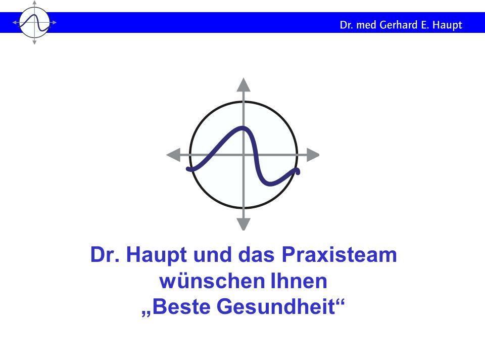 Dr. Haupt und das Praxisteam wünschen Ihnen Beste Gesundheit