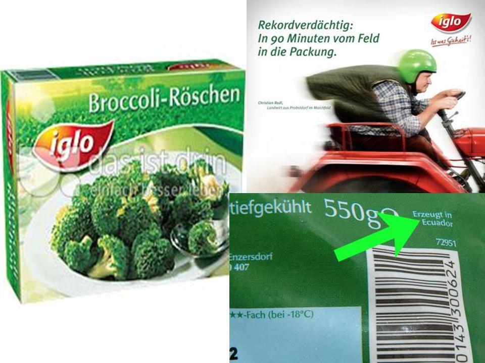 Woher kommt der IGLO Broccoli? A.) Ecuador B.) Österreich C.) Ungarn