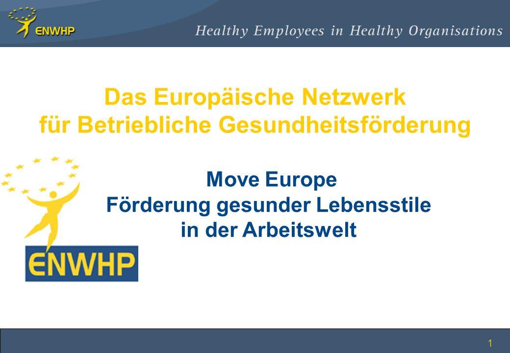 1 Das Europäische Netzwerk für Betriebliche Gesundheitsförderung Move Europe Förderung gesunder Lebensstile in der Arbeitswelt