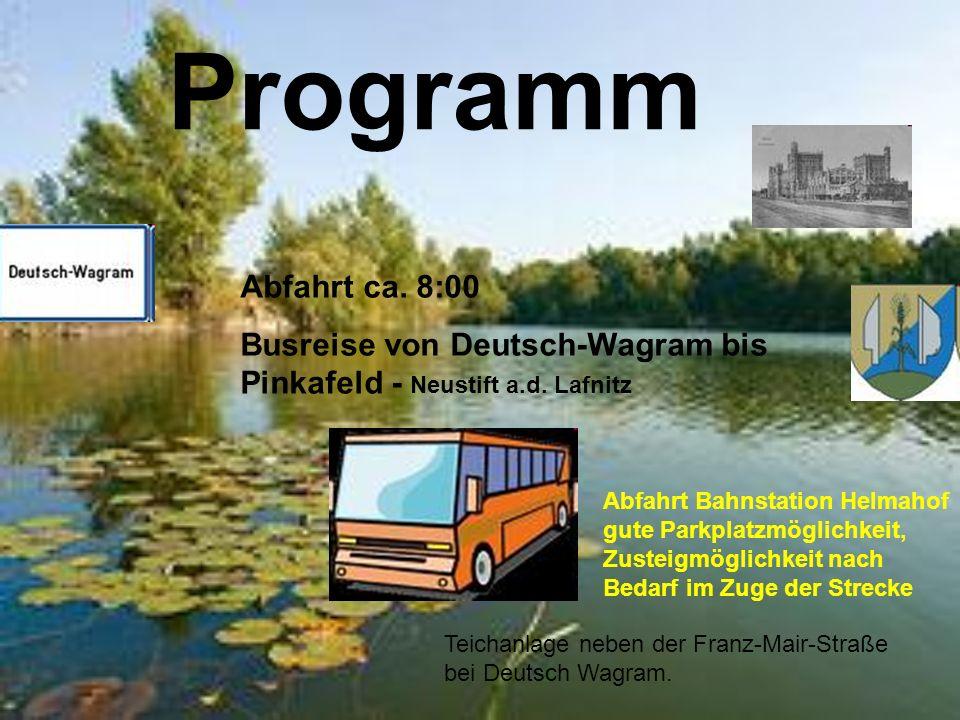 Programm Teichanlage neben der Franz-Mair-Straße bei Deutsch Wagram.