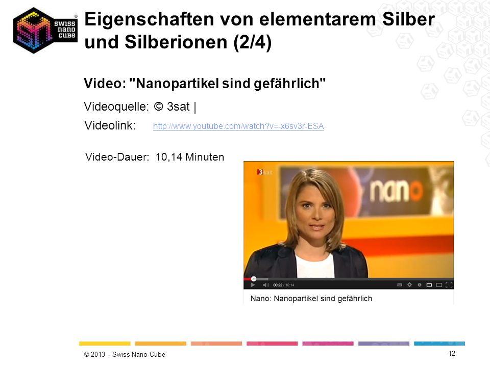© 2013 - Swiss Nano-Cube 12 Video: