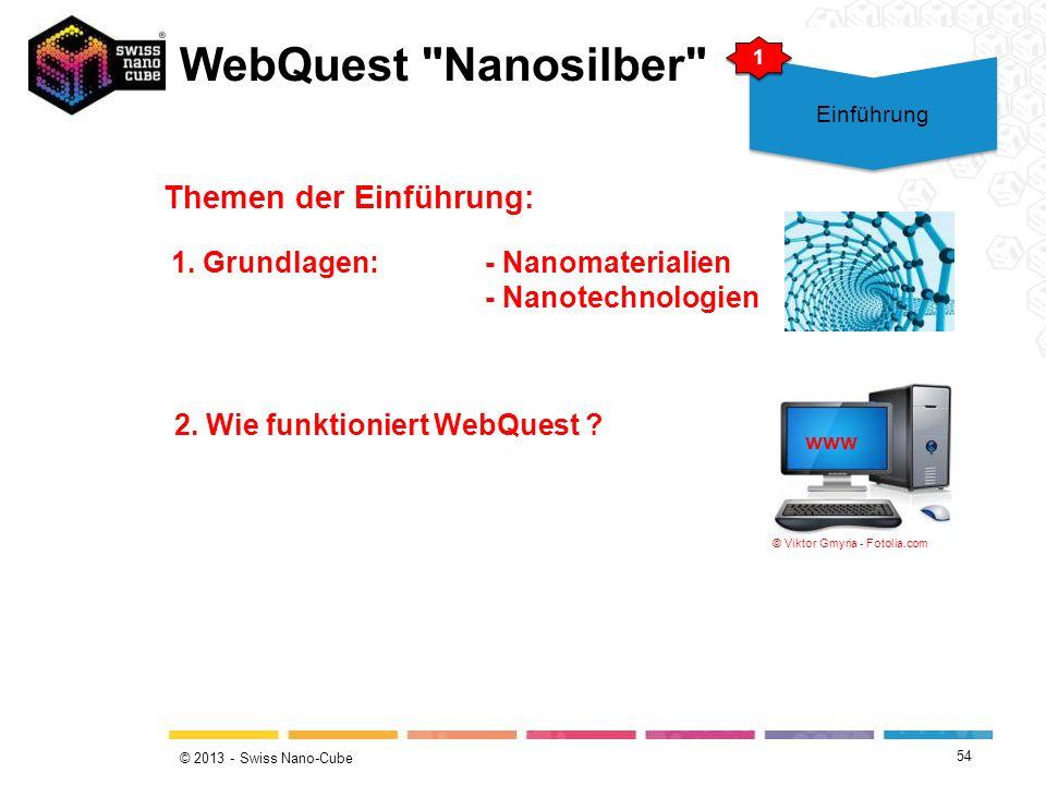 © 2013 - Swiss Nano-Cube WebQuest