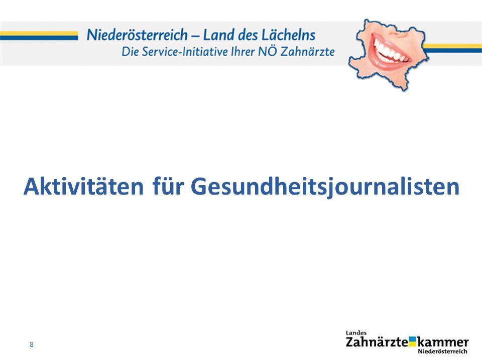 Aktivitäten für Gesundheitsjournalisten 8