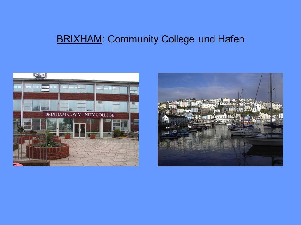 BRIXHAM: Community College und Hafen