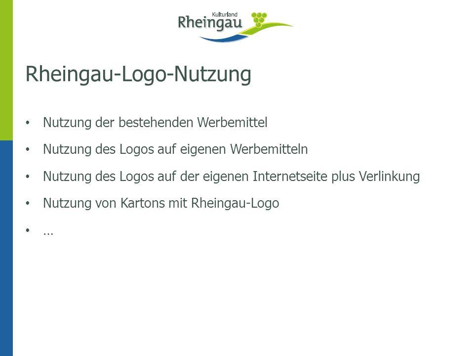 Rheingau-Logo-Nutzung Nutzung der bestehenden Werbemittel Nutzung des Logos auf eigenen Werbemitteln Nutzung des Logos auf der eigenen Internetseite p