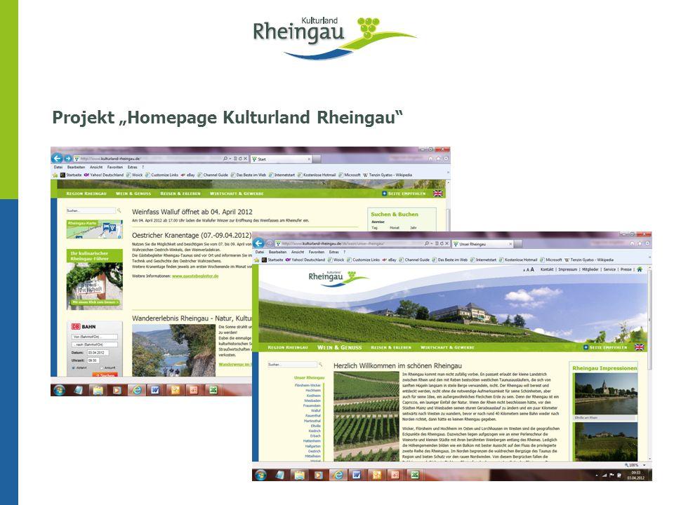 Projekt Homepage Kulturland Rheingau Eltville, 03.04.2012