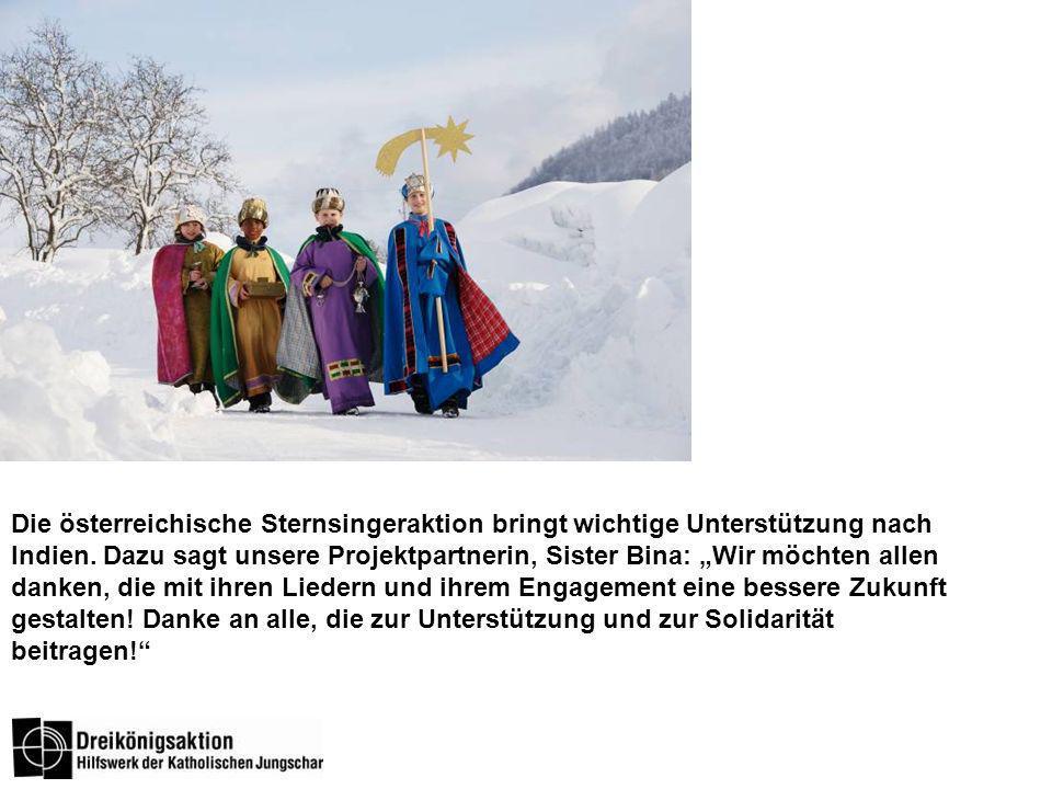Die österreichische Sternsingeraktion bringt wichtige Unterstützung nach Indien.