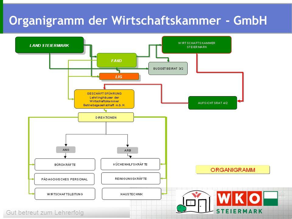 Gut betreut zum Lehrerfolg Organigramm der Wirtschaftskammer - GmbH