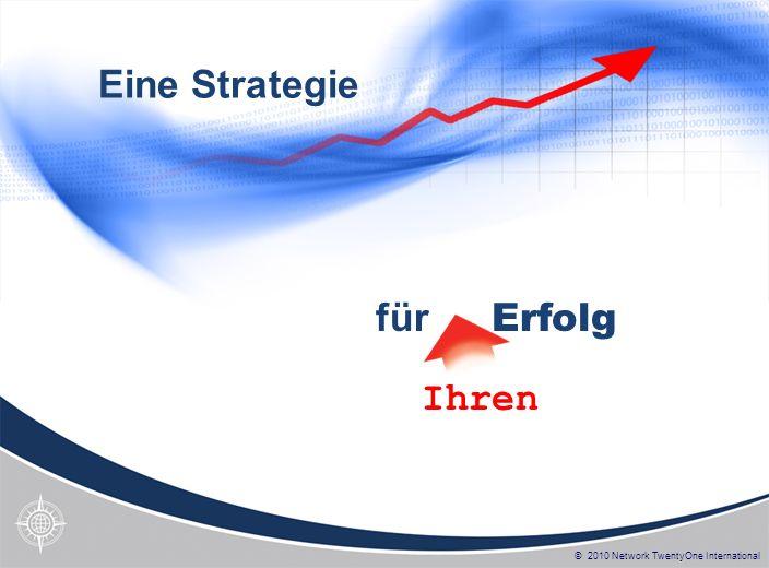 © 2010 Network TwentyOne International Eine Strategie für Erfolg Ihren