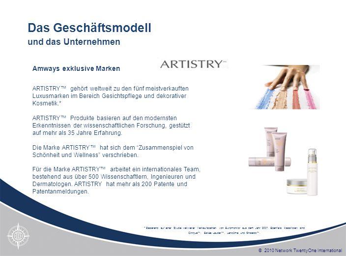 © 2010 Network TwentyOne International ARTISTRY gehört weltweit zu den fünf meistverkauften Luxusmarken im Bereich Gesichtspflege und dekorativer Kosm