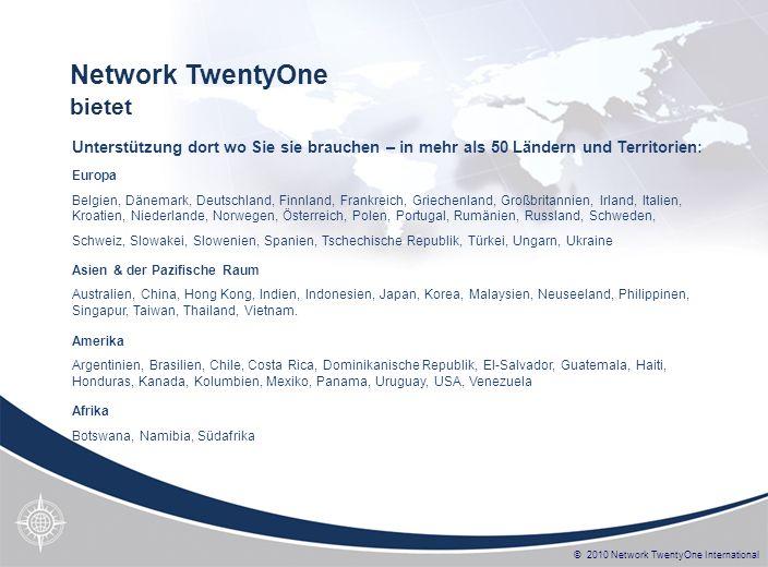 © 2010 Network TwentyOne International Europa Belgien, Dänemark, Deutschland, Finnland, Frankreich, Griechenland, Großbritannien, Irland, Italien, Kro