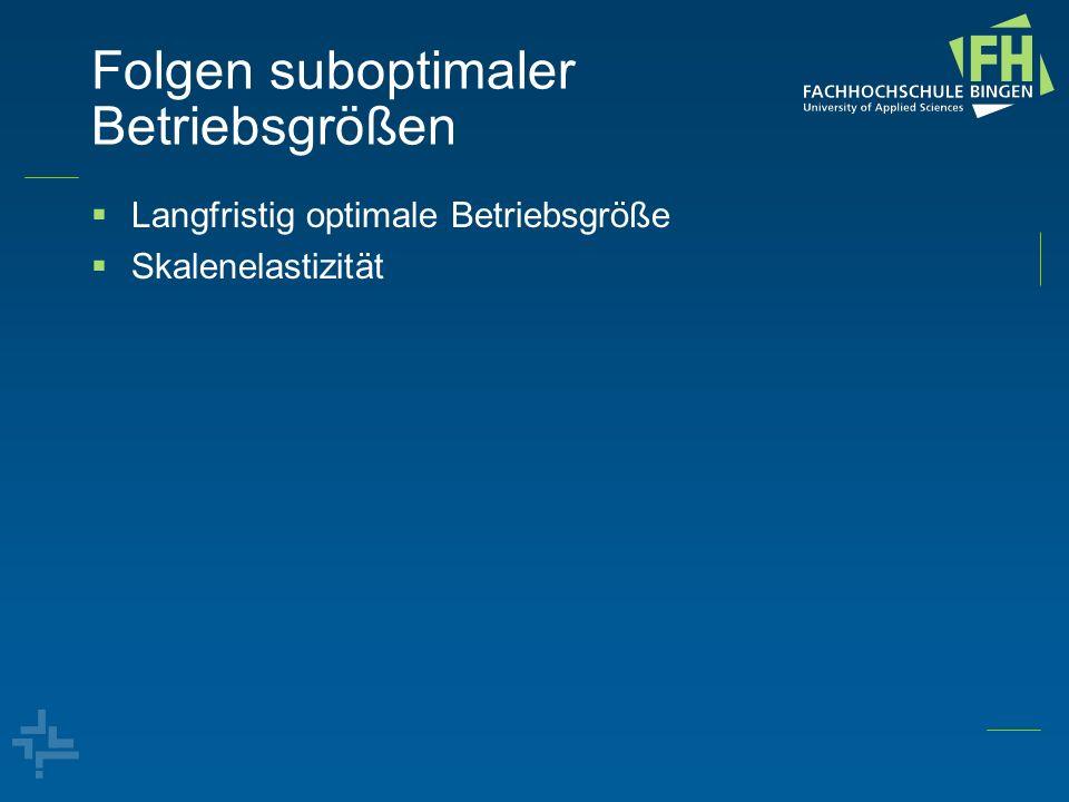 Optimale Werbekostenanteile (Rickertsen, Chalfant, Steen, 1995; ERS 2011) Preiselastizität der Nachfrage (Norwegen) Werbeelastizität (Norwegen)Werbekostenanteil Marktanteil eG30% Gurken-0,420,0122,1% Salat-0,410,039*7,0% Karotten-0,300,0081,8% Anderes Gemüse-0,850,018*1,8% Durchschnitt-0,50,01931,9% Angenommene Angebotselastizität (USA)0,21 CMA Werbekostenanteil 0,4%