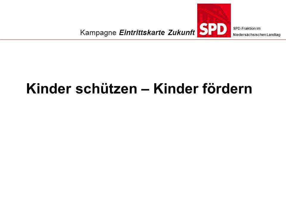 SPD-Fraktion im Niedersächsischen Landtag Kinder schützen – Kinder fördern Kampagne Eintrittskarte Zukunft