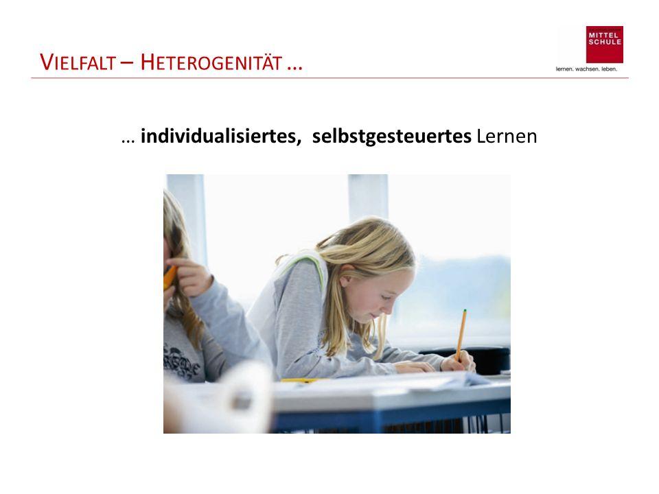 V IELFALT – H ETEROGENITÄT … … individualisiertes, selbstgesteuertes Lernen