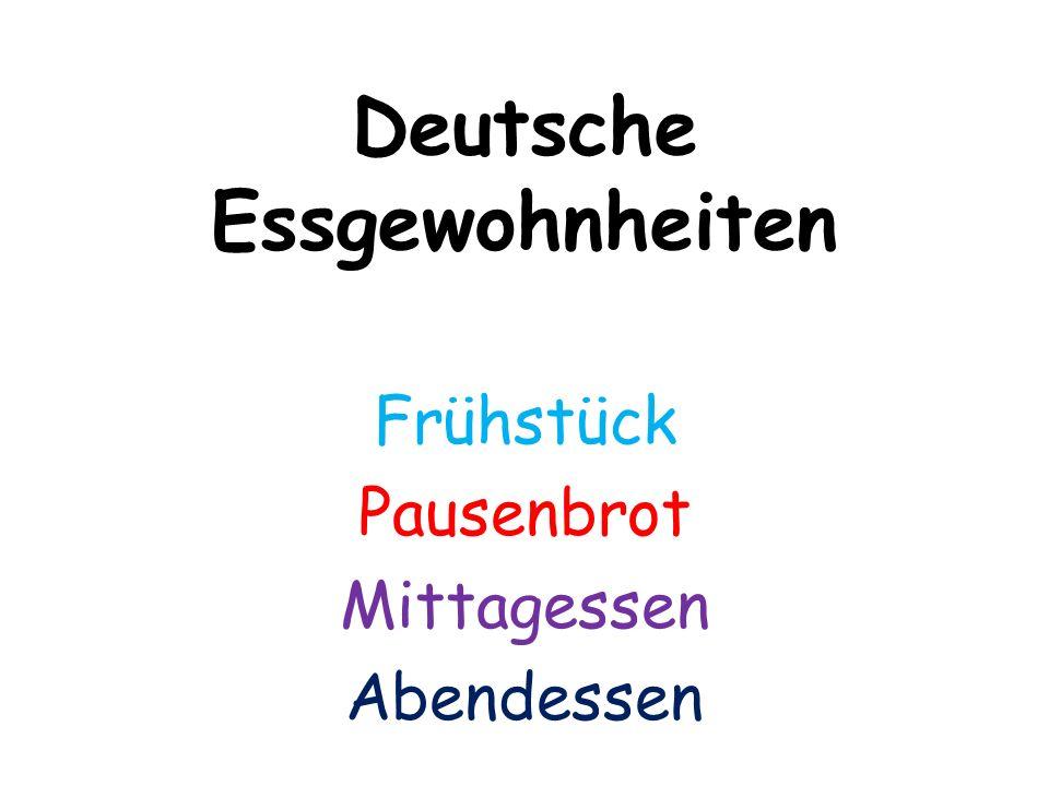 Frühstück Das klassische deutsche Frühstück besteht aus verschiedenen Brotsorten und Brötchen, Marmelade und Kaffee oder Tee.