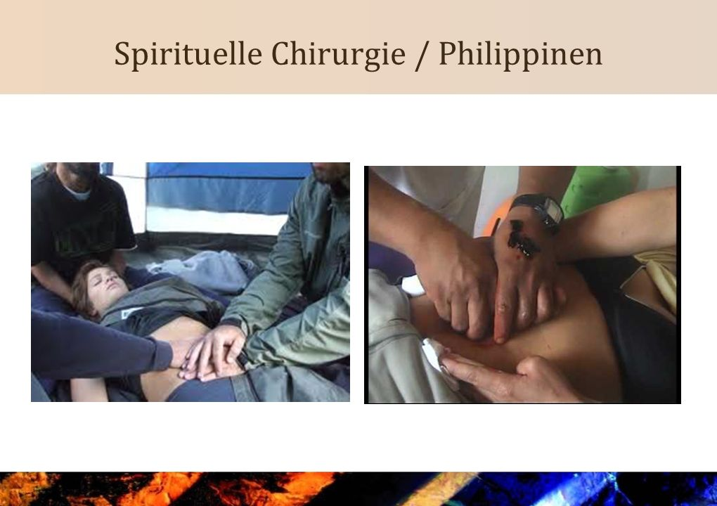 Vielschichtigkeit Individuals and organizations involved with spiritual healing may use many different approaches and styles.