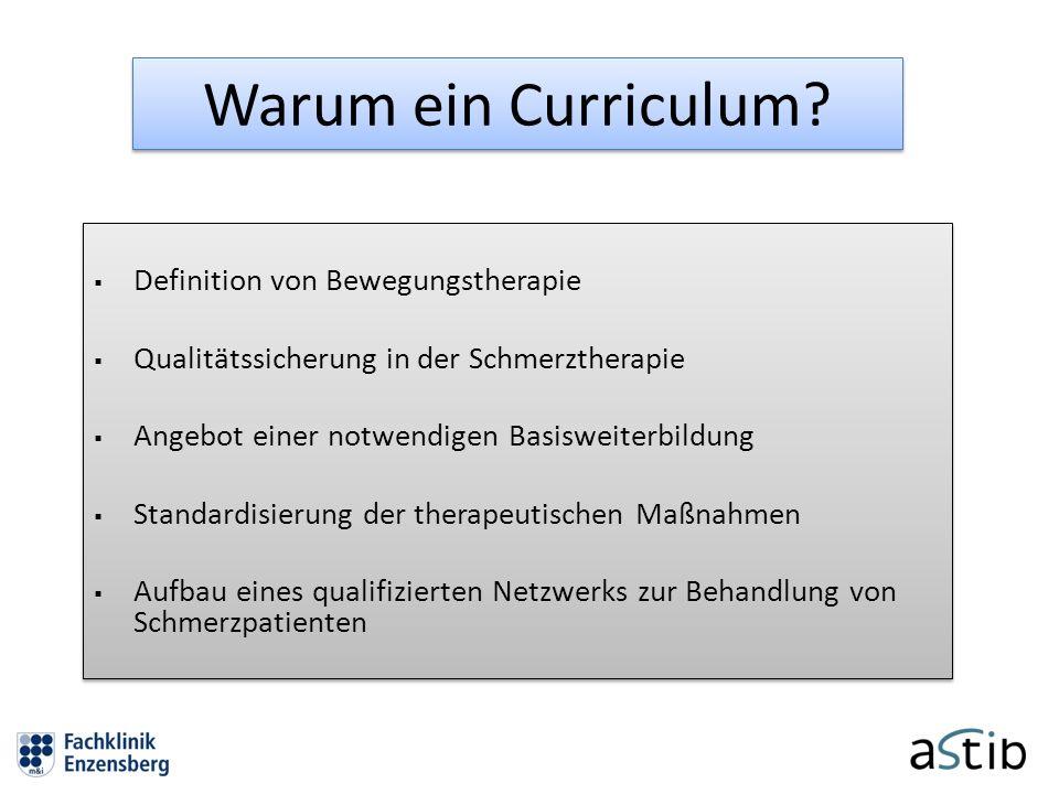 Warum ein Curriculum?