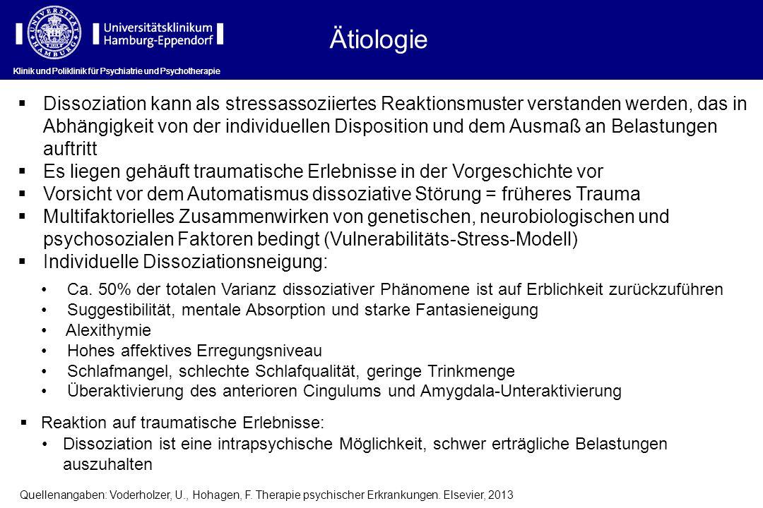 Dissoziation kann als stressassoziiertes Reaktionsmuster verstanden werden, das in Abhängigkeit von der individuellen Disposition und dem Ausmaß an Be