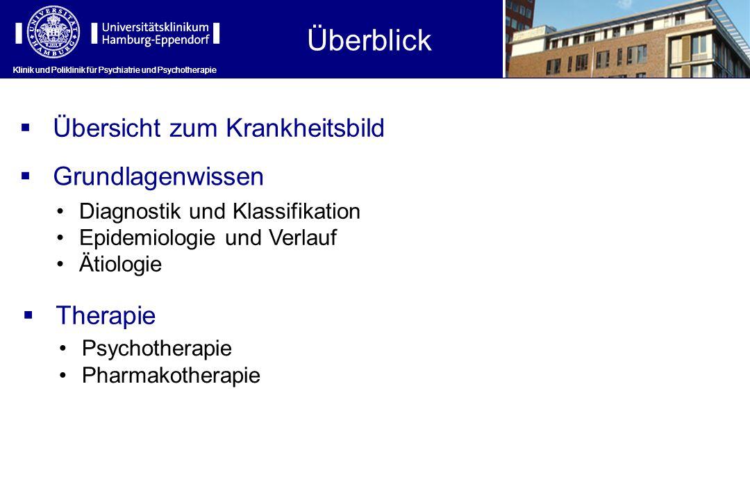 Klinik und Poliklinik für Psychiatrie und Psychotherapie Überblick Klinik und Poliklinik für Psychiatrie und Psychotherapie Übersicht zum Krankheitsbi