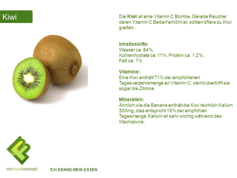 Avocado ICH KENNE MEIN ESSEN Die Avocado hat unglaubliche Eigenschaften.