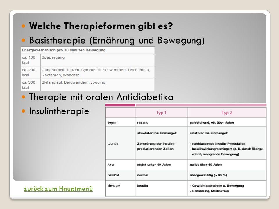 Welche Therapieformen gibt es.