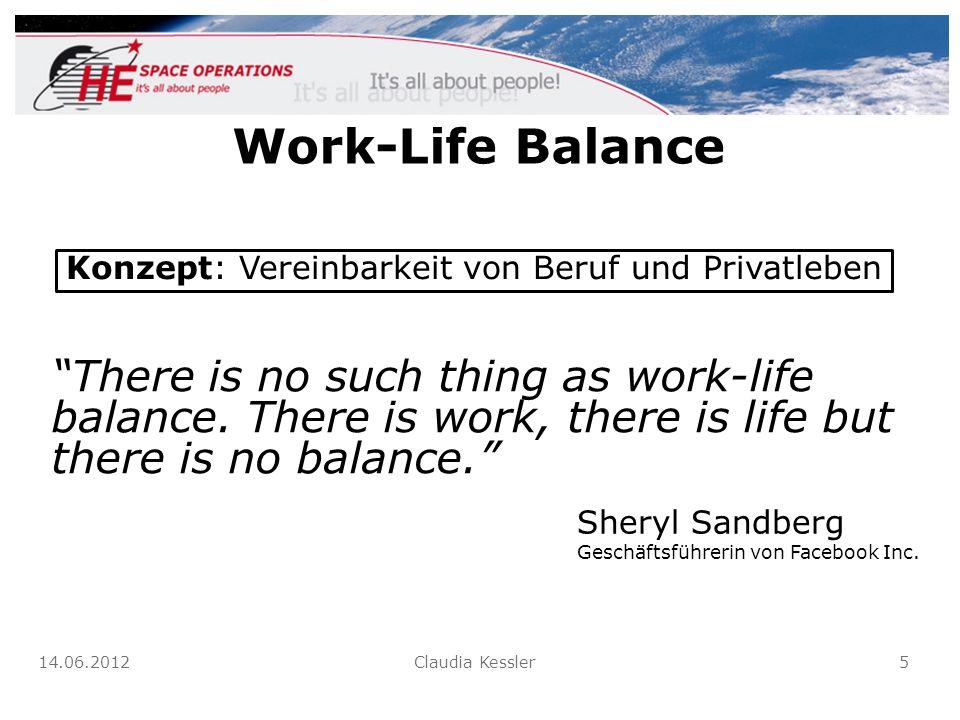 Work-Life Balance There is no such thing as work-life balance. There is work, there is life but there is no balance. Konzept: Vereinbarkeit von Beruf