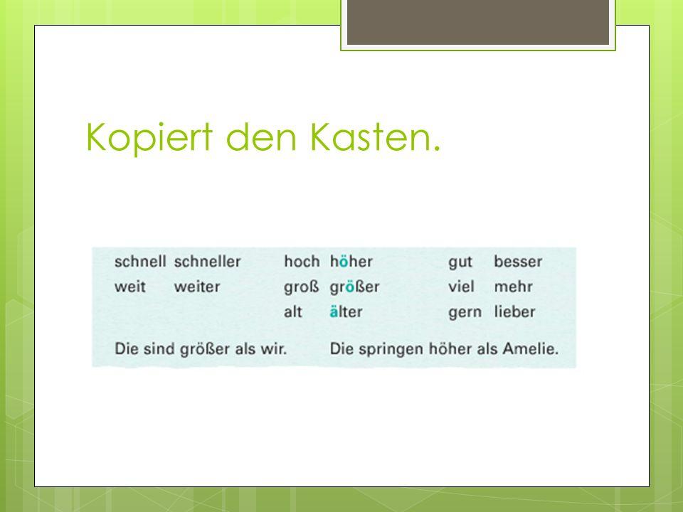 Hausaufgaben: WKBK. P. 11 ex. 4-5-6