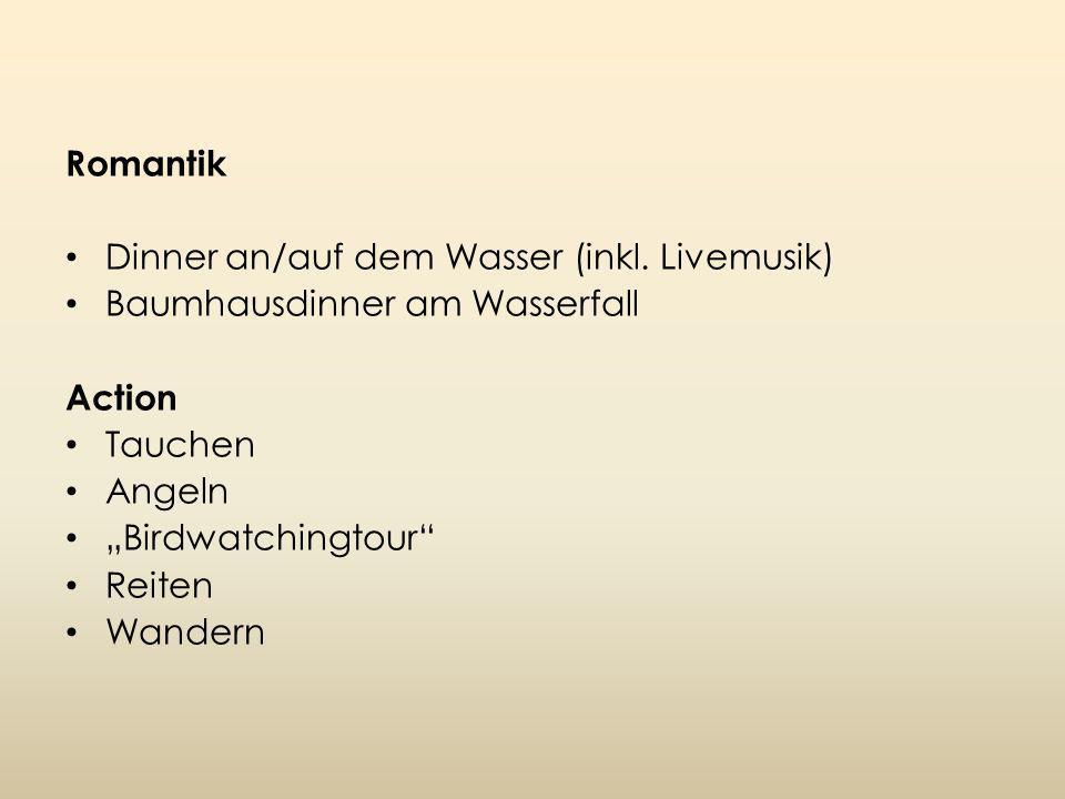 Romantik Dinner an/auf dem Wasser (inkl.