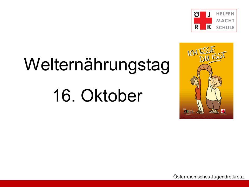 Österreichisches Jugendrotkreuz Welternährungstag 16. Oktober