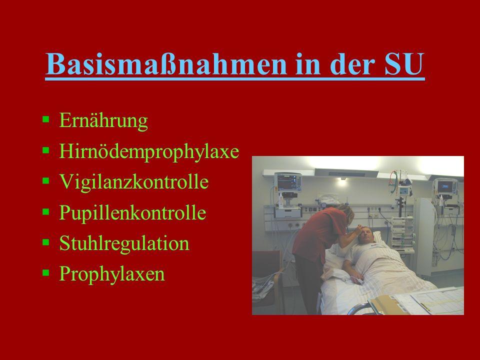 Basismaßnahmen in der SU §psychische Betreuung §Lagerung und Mobilisation §Physiotherapie §Ergotherapie §Logopädie