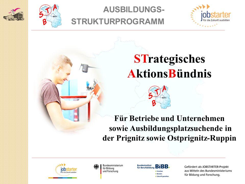 S T A B AUSBILDUNGS- STRUKTURPROGRAMM STrategisches AktionsBündnis Für Betriebe und Unternehmen sowie Ausbildungsplatzsuchende in der Prignitz sowie Ostprignitz-Ruppin S T A B