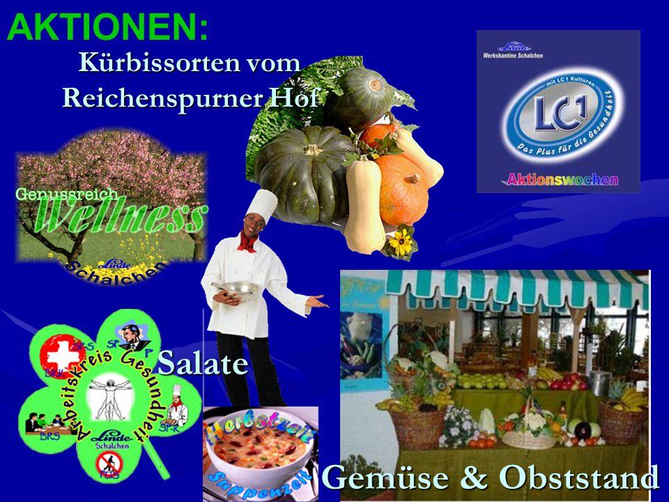 Kürbissorten vom Reichenspurner Hof Salate AKTIONEN: Gemüse & Obststand