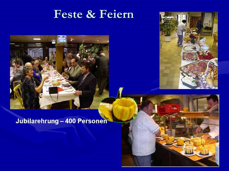 Feste & Feiern 125 Jahre Linde – 1200 Gäste Jubilarehrung – 400 Personen