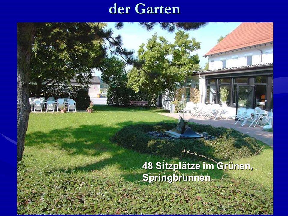 der Garten 48 Sitzplätze im Grünen, Springbrunnen